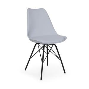 Scaun cu picioare negre din metal loomi.design Eco, gri