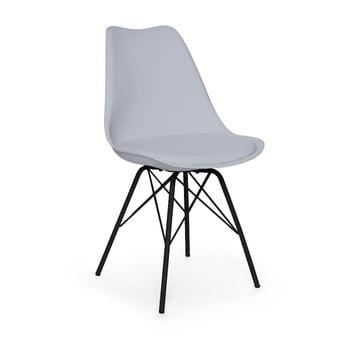 Scaun cu picioare negre din metal loomi.design Eco, gri de la loomi.design