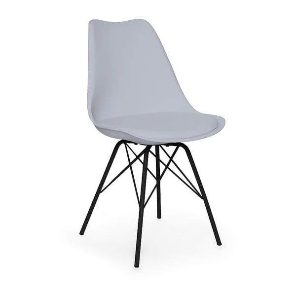 Eco szürke szék, fekete fém lábakkal - loomi.design
