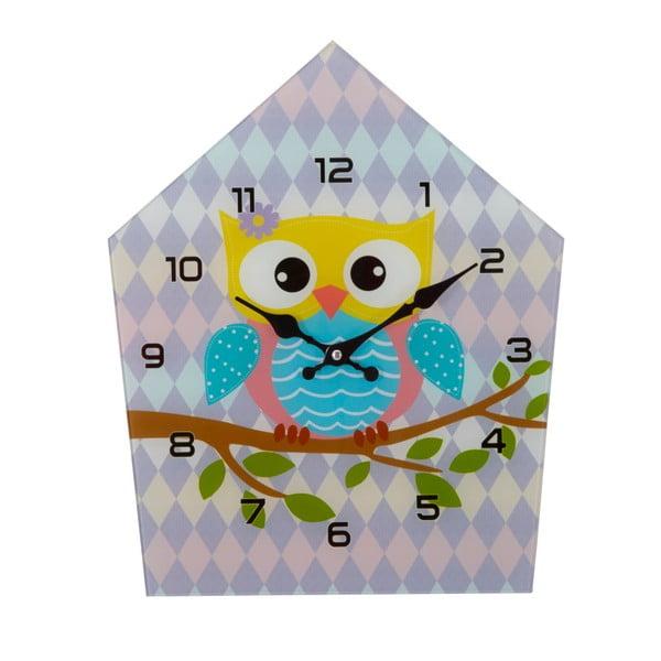Ceas de perete din sticlă Mauro Ferretti Owly