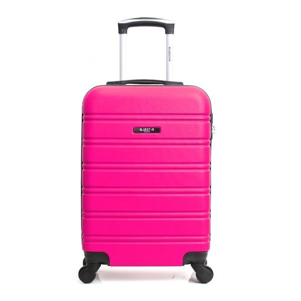 Růžový cestovní kufr na kolečkách BlueStar Bilbao, 35l