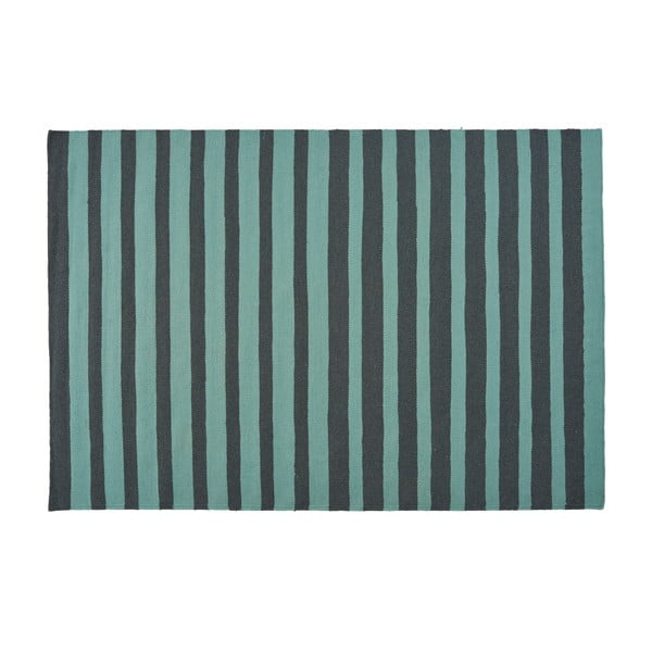 Tyrkysový ručně tkaný vlněný koberec Linie Design Toya, 160x230cm