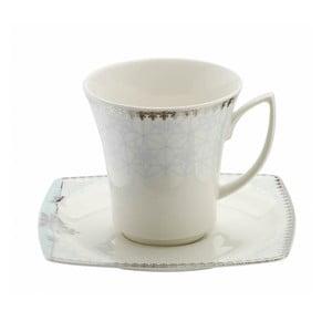 Sada 6 porcelánových šálků s podšálky Kutahya Miko