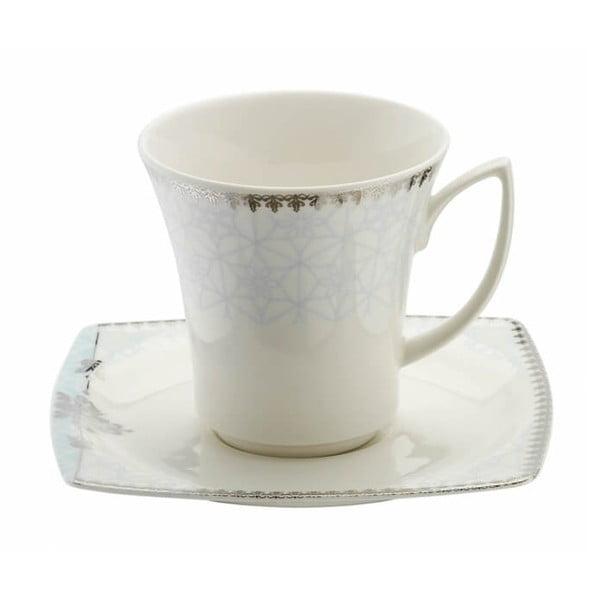 Zestaw 6 porcelanowych filiżanek ze spodkami Kutahya Miko