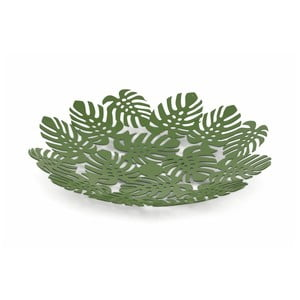 Zelená dekorativní kovová mísa Villa d'Este Foglie, 29 cm