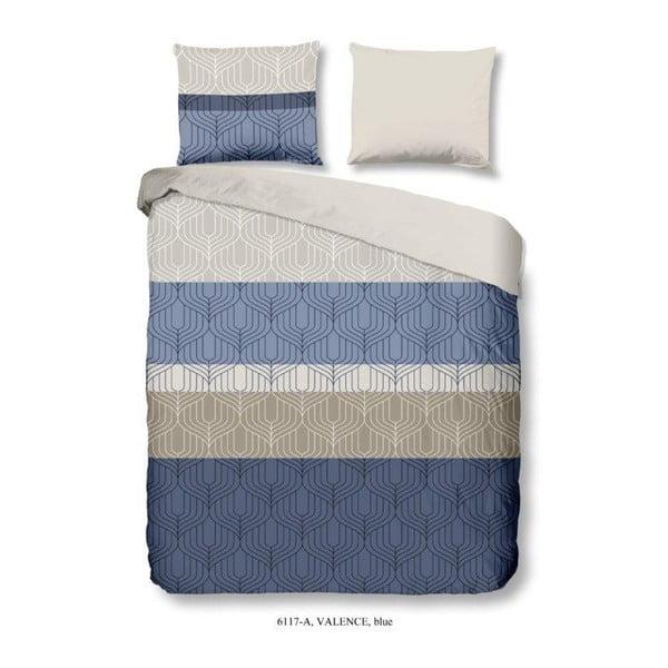 Modré povlečení na jednolůžko z bavlny Good Morning Valence, 140 x 200 cm