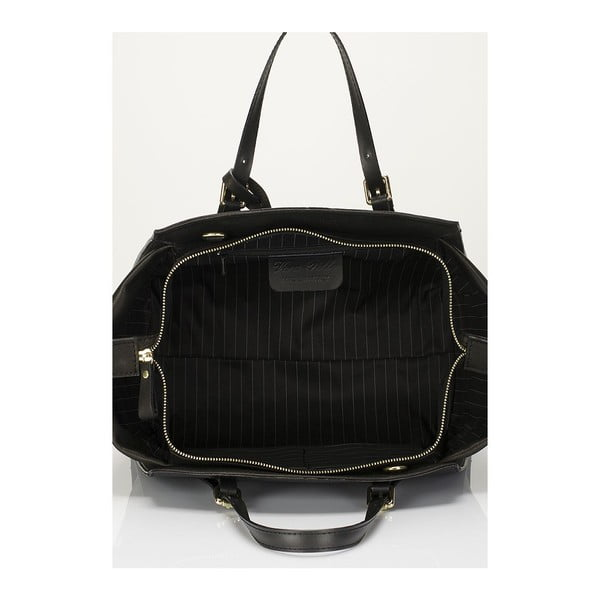 Kožená kabelka Giulia Massari 2401 Black