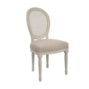 Bílá židle Versailles, šedá