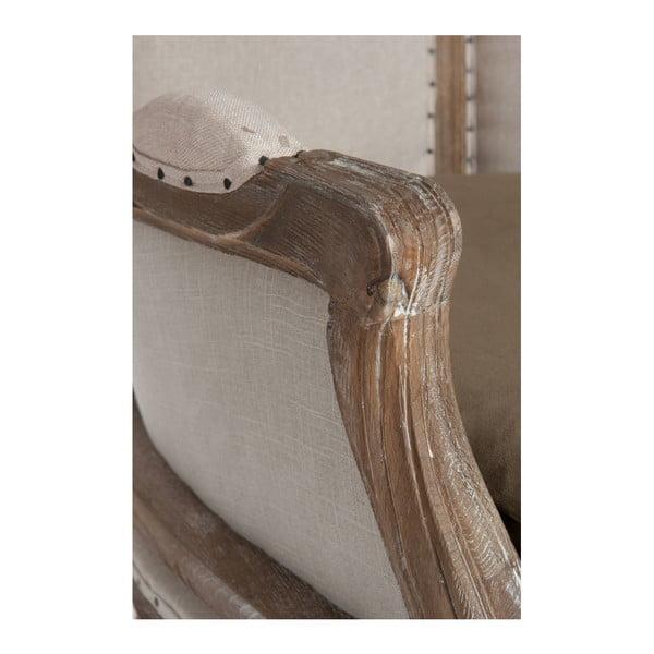 Šedé dubové křeslo Queen Anne