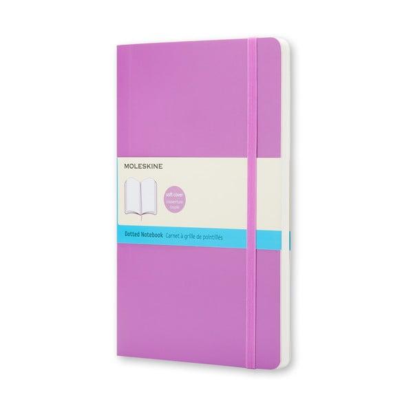 Malý světle fialový zápisník Moleskine Soft, bezlinek