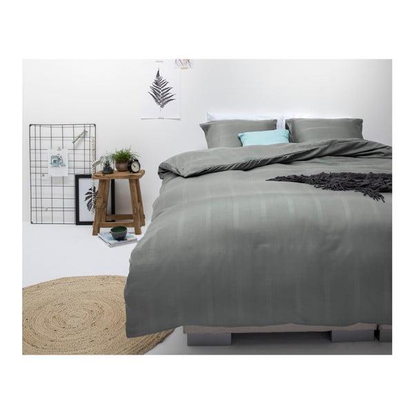 Tmavě šedé povlečení z mikroperkálu Sleeptime Satin Montreal,240x200cm