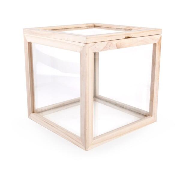 Sklenený úložný box Kikkerland, 21 x 21 cm