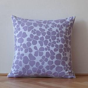 Polštář s výplní Dark Violet Flowers, 50x50 cm
