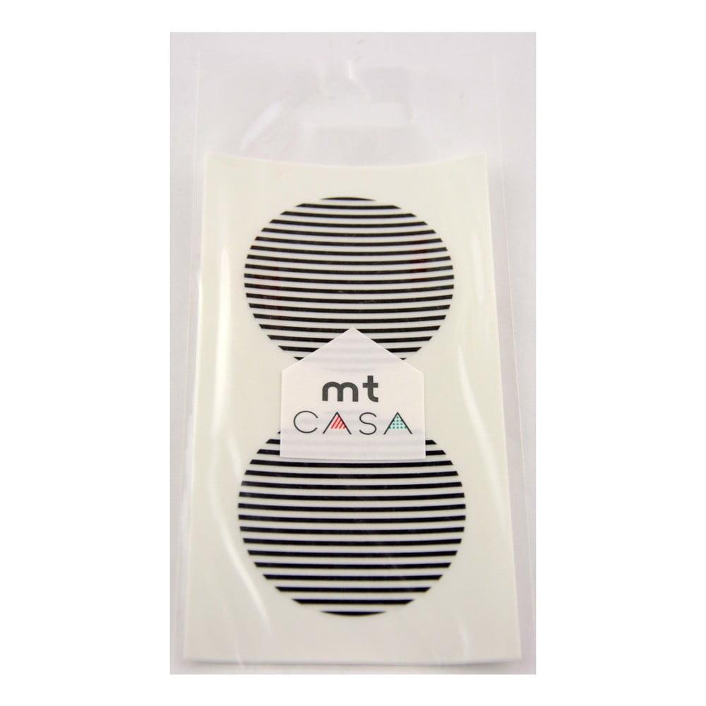 Sada 10 černobílých samolepek washi MT Masking Tape Casa