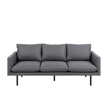 Canapea cu 3 locuri Actona Carolina, gri închis