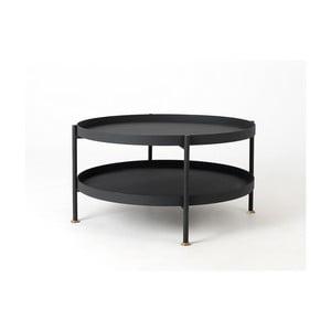 Černý konferenční stolek Custom Form Hanna, ⌀80cm