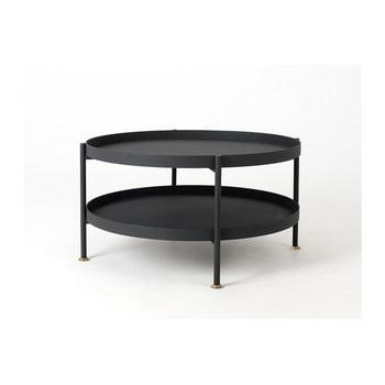 Masă de cafea Custom Form Hanna, ⌀ 80 cm, negru de la Custom Form