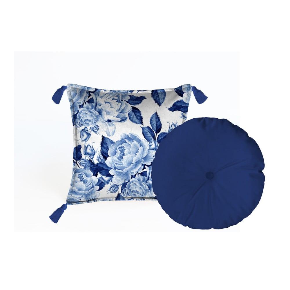 Sada 2 dekorativních polštářů Velvet Atelier Flowers, 45 x 45 cm