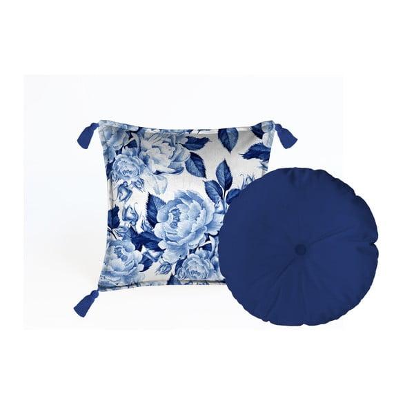Sada 2 dekorativních polštářů Velvet Atelier Flowers