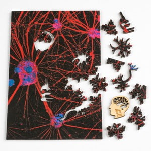 Puzzle Red Neural Network, 15x23 cm