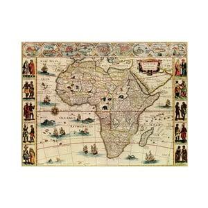 Fotoobraz Stará mapa Afriky, 80x60 cm