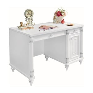 Bílý pracovní stůl Romantic Study Desk