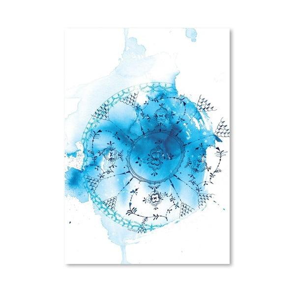 Plakát Blue Plate Wash, 30x42 cm