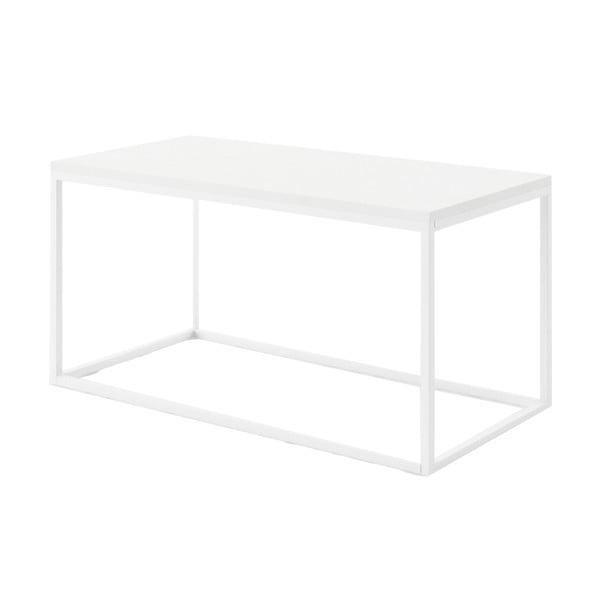 Velký bílý konferenční stůl z mramoru s bílým podnožím Absynth Noi Brazil