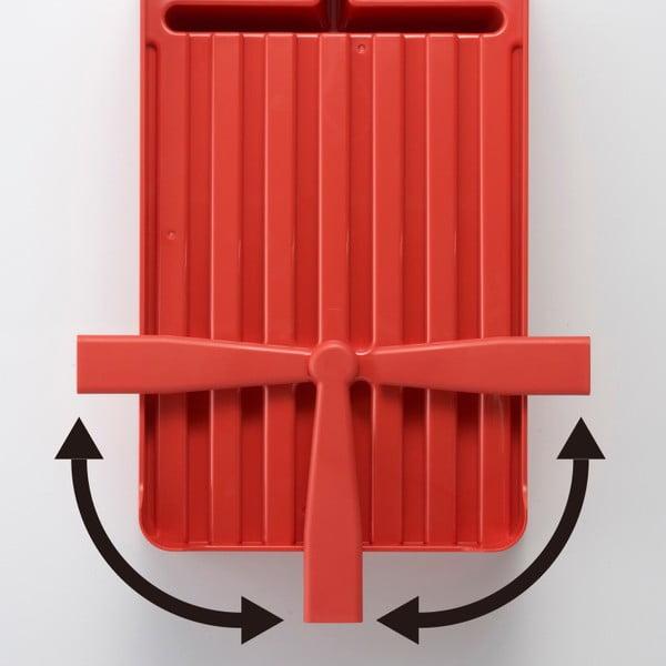 Červený odkapávač nádobí Yamazaki Tower