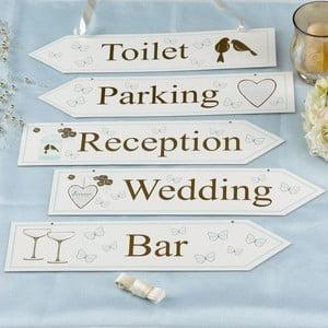 Sada 5 svatebních orientačních ukazatelů Neviti Forever