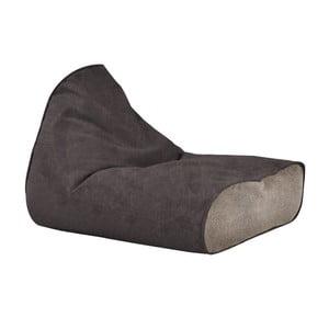 Větší hnědý sedací vak s pískovým detailem Poufomania Sunset