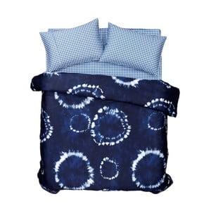 Sada povlečení a prostěradla Batik Blue, 200x220 cm
