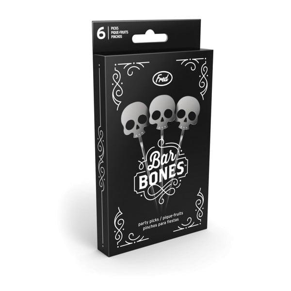Sada 6 koktejlových párátek Fred & Friends Bar Bones