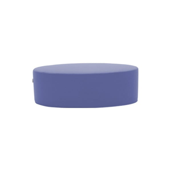 Modrofialový puf Softline Bon-Bon Valencia Lenvader, délka 120 cm