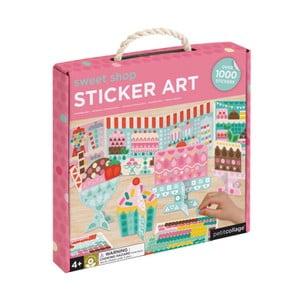Sada interaktivních papírových figurek se samolepkami Petit collage Sweets