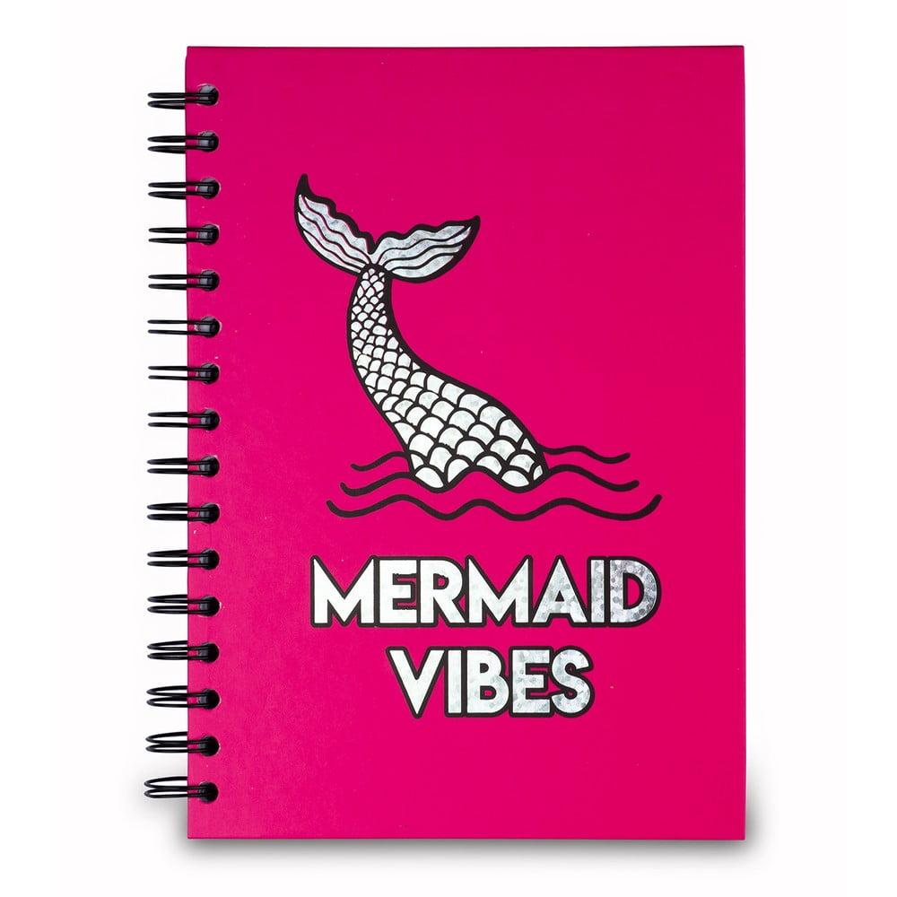 Růžový zápisník Tri-CoastalDesign Mermaid Dreams, 120 stránek