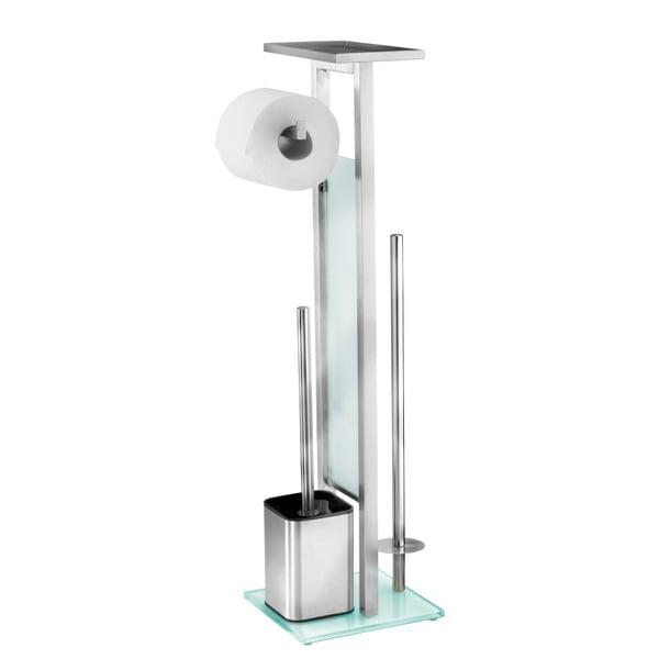 Perie de toaletă cu suport pentru hârtie Wenko Debar