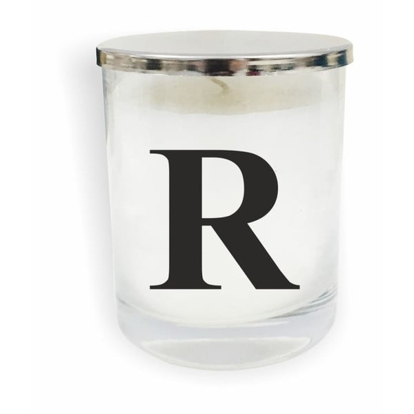Bílo-černá svíčka North Carolina Scandinavian Home Decors Monogram Glass Candle R