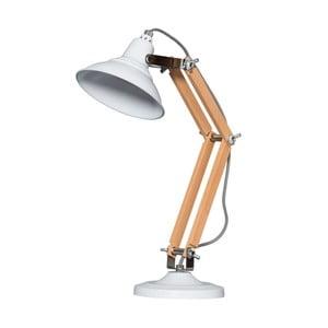 Dřevěná stolní lampa s bílým stínítkem ETH Calia
