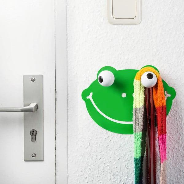 Dekorativní háček a nálepka na stěnu Donkey Hooklys Froggy