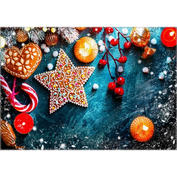Covor Vitaus Christmas Period Star Cookie, 50 x 80 cm