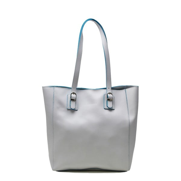 Kožená kabelka Cervo White/Turchese