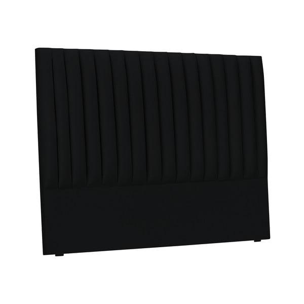 Černé čelo postele Cosmopolitan design NJ, 200x120cm