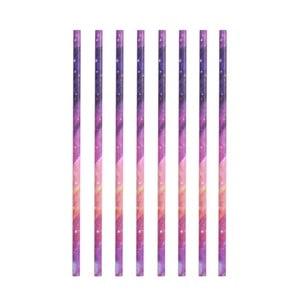 Sada 8 papírových brček Kikkerland Galaxy