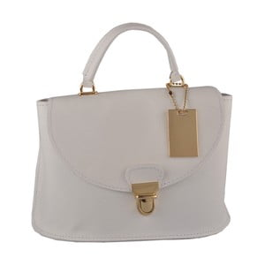 Bílá kožená kabelka Matilde Costa Olivos