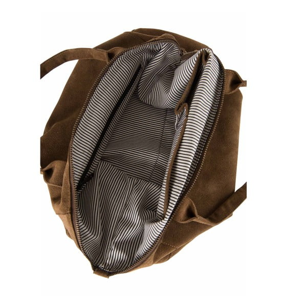 Kožená kabelka Fly Violet Midi, béžová