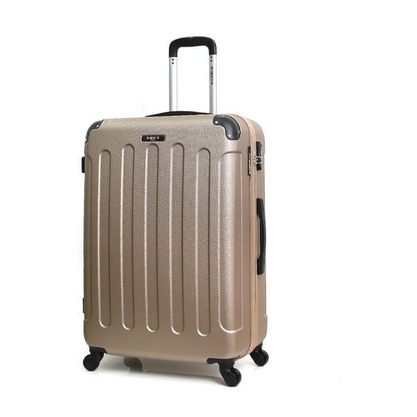 Cestovní kufr ve zlaté barvě na kolečkách BlueStar Madrid, 31l