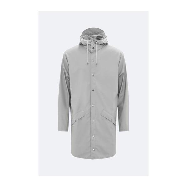 Sivá unisex bunda s vysokou vodeodolnosťou Rains Long Jacket, veľkosť S/M