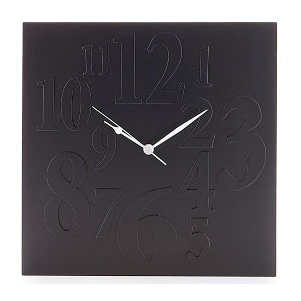 Černé nástěnné hodiny Tomasucci Mix