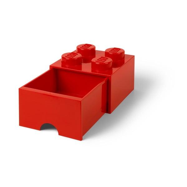 Cutie depozitare cu sertar LEGO®, roșu